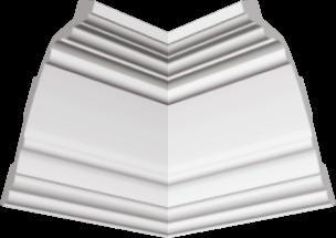 Polystyrene ceiling cornice Glanzepol GP-87